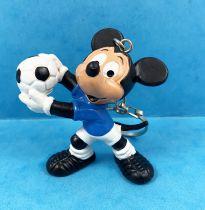 Mickey et ses amis - Figurine PVC Bully - Mickey Footballeur (Gardien) Porte-Clés