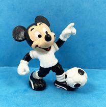 Mickey et ses amis - Figurine PVC Bully - Mickey Footballeur (T-Shirt Blanc)