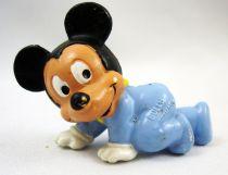Mickey et ses amis - Figurine PVC Bully 1985 - Bébé Mickey rampant