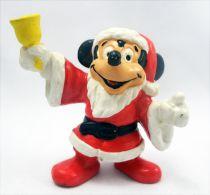 Mickey et ses amis - Figurine PVC Bully 1985 - Mickey Père Noël