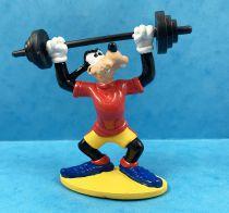 Mickey et ses amis - Figurine PVC Bullyland 1998 - Dingo Haltérophile