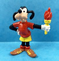 Mickey et ses amis - Figurine PVC Bullyland 1998 - Dingo Porteur Flamme Olympique
