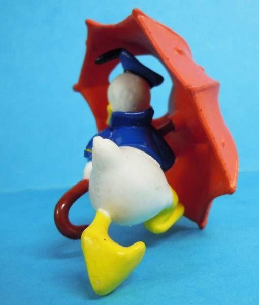 Mickey et ses amis - Figurine PVC Kid\'M 1995 - Donald et son parapluie