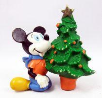 Mickey et ses amis - Figurine PVC M+B Maia Borges 1982 - Mickey à Noël