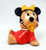 Mickey et ses amis - Figurine PVC M+B Maia Borges 1985 - Disney Babies Bébé Minnie (robe rouge)