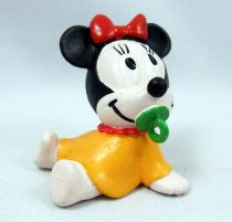 Mickey et ses amis - Figurine PVC M+B Maia Borges 1985 - Disney Babies Bébé Minnie