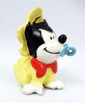 Mickey et ses amis - Figurine PVC M+B Maia Borges 1985 - Disney Babies Bébé Pat Hibulaire (tétine bleue)