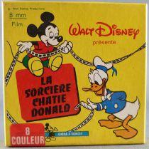 Mickey et ses amis - Film Super 8 Couleur 15m Disney - La sorcière Châtie Donald