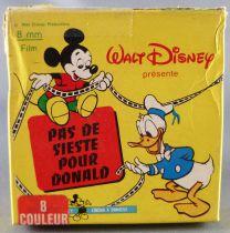 Mickey et ses amis - Film Super 8 Couleur 15m Disney - Pas de Sieste pour Donald