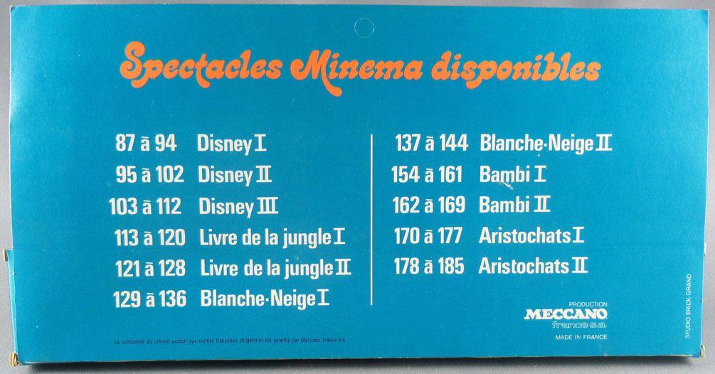 Mickey et ses amis - Meccano France - Minema Walt Disney Série II 8 Bandes 56 Vues Fixes Couleur Neuf Boite