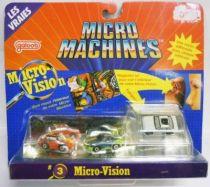 Micro Machines - Galoob - 1990 Set #3 Micro-Vision (MR-2 T-Bird Super Coupé & Porsche 959)
