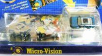 Micro Machines - Galoob - 1990 Set #6 Micro-Vision (Porsche 959, \'55 Van Panel & Taurus)