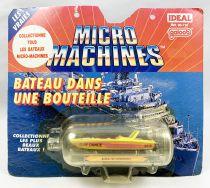 MicroMachines - Galoob Ideal - 1990 Bateau dans une Bouteille (Bateau de Compétition) Ref.96-710