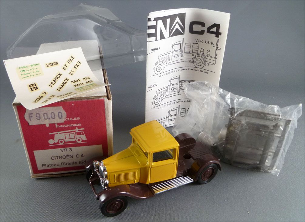 Mini Racing MVI Ref VR12 Citroën C 4 pick-up & Cans White Metal Kit 1:43 Mint Unbuilt