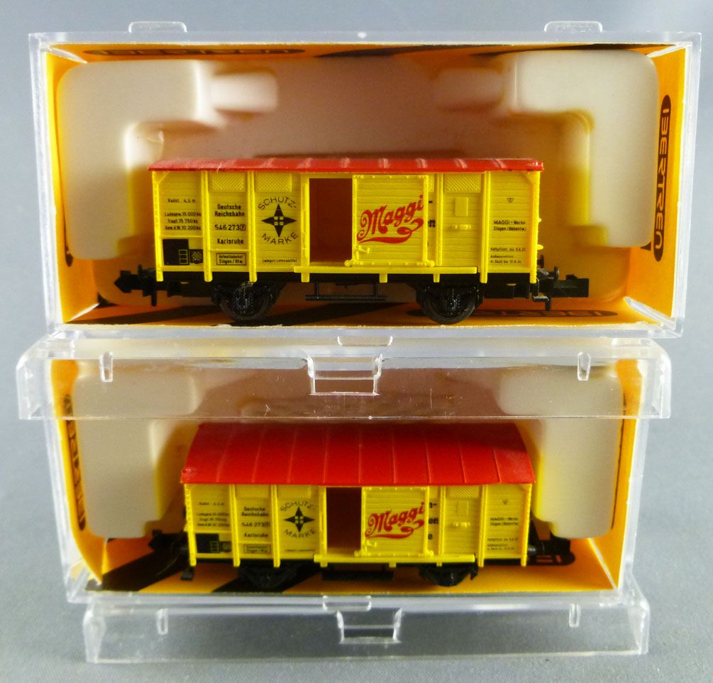 Minitrix 13610 N Scale Db 2 Covered Wagon Maggi 2 axles