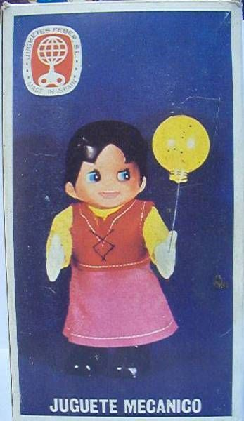 Mint in box Heidi  with Balloon - Mechanical toy