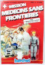 Mission Médecins Sans Frontières - Hughes le pilote - Figurine 10cm Berchet France