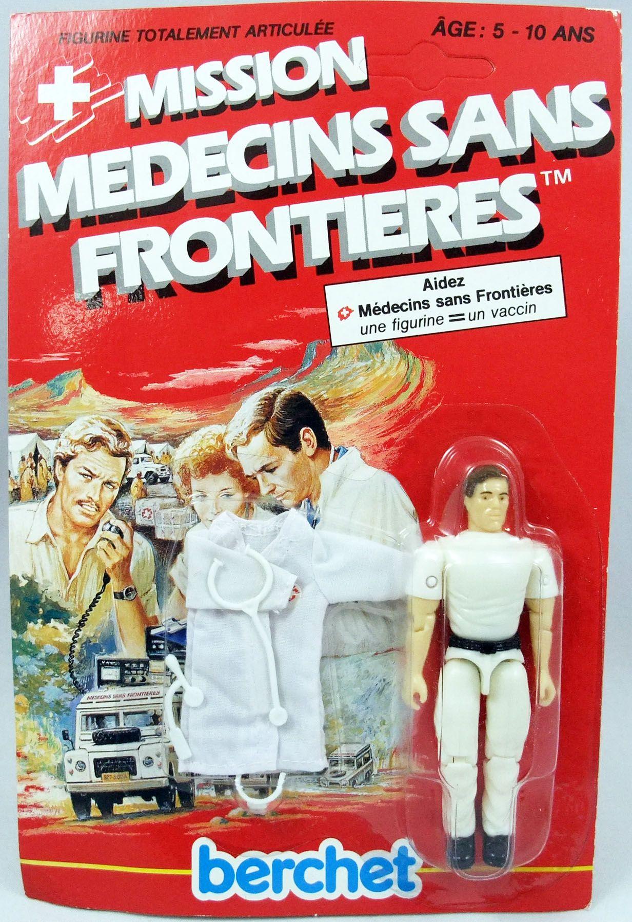 Mission Médecins Sans Frontières - Pierre le chirurgien - Figurine 10cm Berchet France