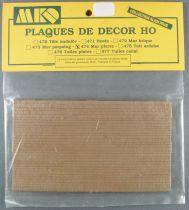Mkd 474 Ho 2 Decor Plates Stone Wall Mint in Bag