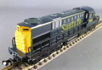Model Power Ech N Santa Fe Locomotive Diesel Bogie 3 essieux N° 7550