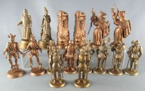Mokarex - Jeu d\'Echecs - 16 Pions Figurines dorées