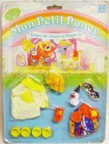Mon Petit Poney - Hasbro France -  Garde Robe Mascotte de Bébé Poney - Tenue de clown et Peignoir