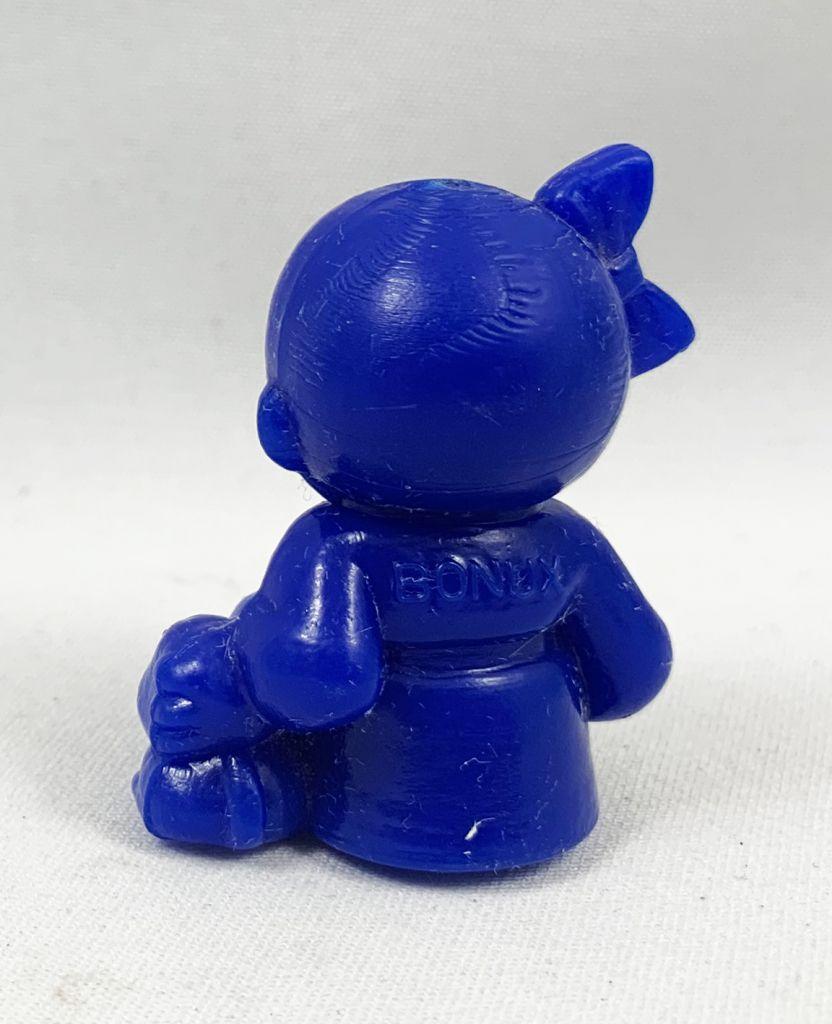 Monchichi - Bonux - Monchichi seating with puppy blue figure