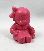 Monchichi - Bonux - Monchichi seating with puppy pink figure