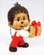 Monchichi - Bully pvc figure - Boy with gift box