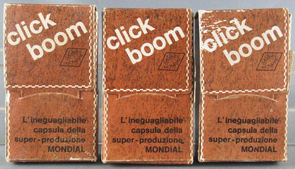 Mondial Molgora 240 Click Boom Firecracker Caps 3 Boxes with 8 Strips x 10 Shots