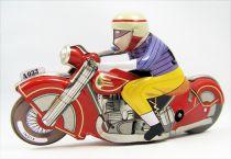 Moto - Jouet mécanique en Tôle - Racing Motor Cycle (Tin Treasures)