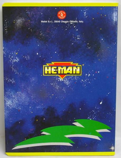 MOTU - Cahier d\'écolier - He-Man & Optikk (Musclor vs. Optikk)