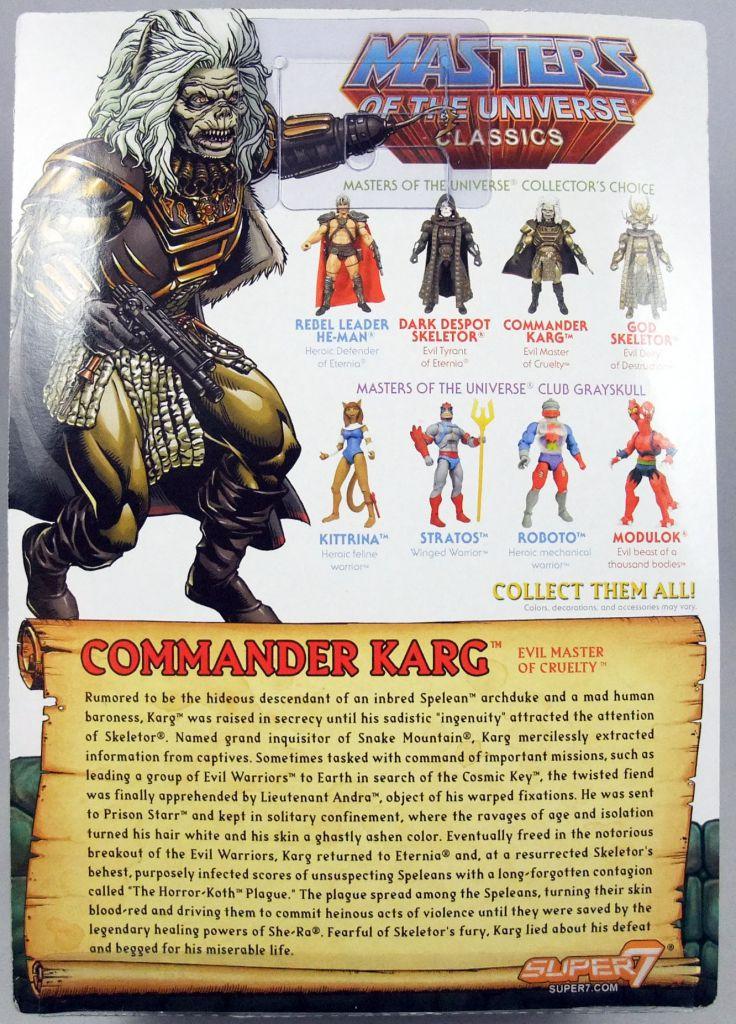 MOTU Classics - Commander Karg (1987 Movie - William Stout Collection)