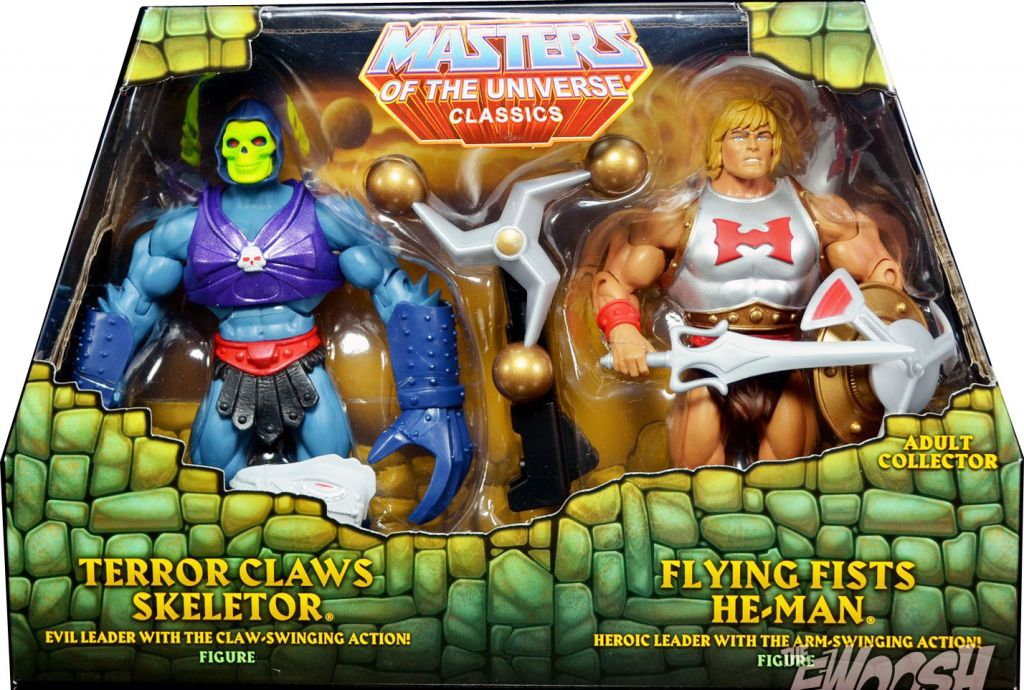 MOTUC,Masters of the Universe Classics TERROR CLAWS SKELETOR FLYING  FIST HE-MAN