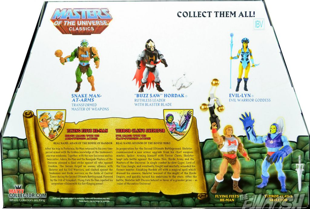 Masters of the Universe Classics MOTUC Terror Claws squelettor Flying Fists He-Man