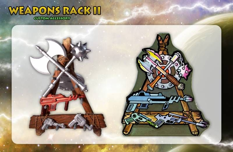 MOTU Classics - Weapons Rack II \'\'The Forgotten One\'\' - Barbarossa Art