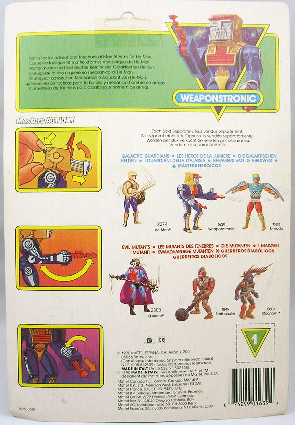 MOTU New Adventures of He-Man - Artilla  Weaponstronic carte Europe (1)