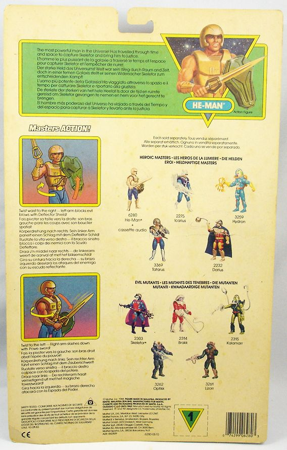 MOTU New Adventures of He-Man - He-Man + cassette audio carte Europe (1)