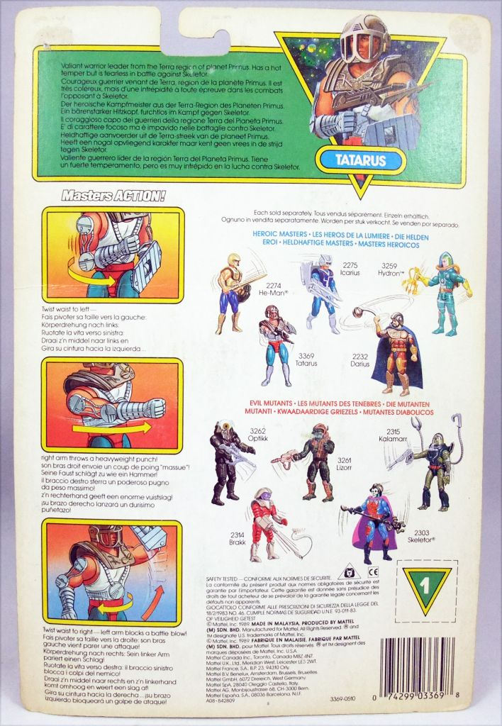 MOTU New Adventures of He-Man - Kayo / Tatarus (carte Europe)