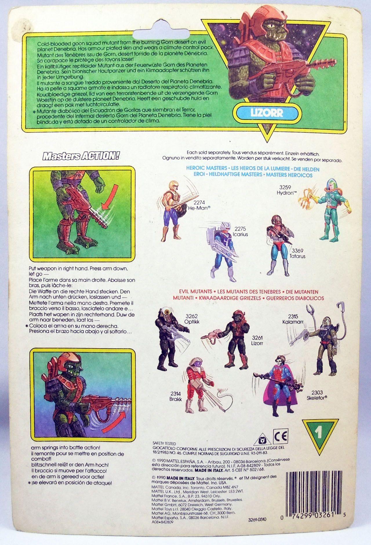 MOTU New Adventures of He-Man - Lizorr (Europe card)