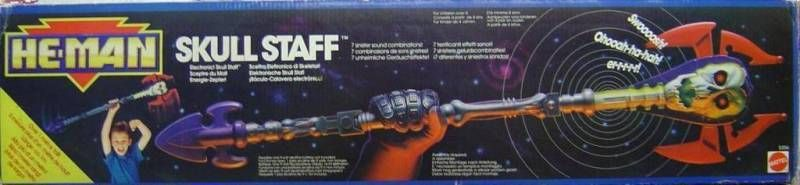 MOTU New Adventures of He-Man - Skull Staff (Europe box)