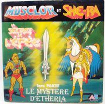 Musclor & She-Ra, Le secret de l\'épée - Livre-Disque 45Tours - Le Mystère d\'Etheria - AB Productions 1985
