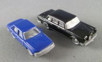 N Scale 1:160 Wiking Black Mercedes 600 + Fleischmann Blue Audi 100