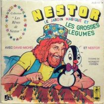 Nestor the pinguin , Merchandising Mini Lp and book, Nestor and the big vegetables