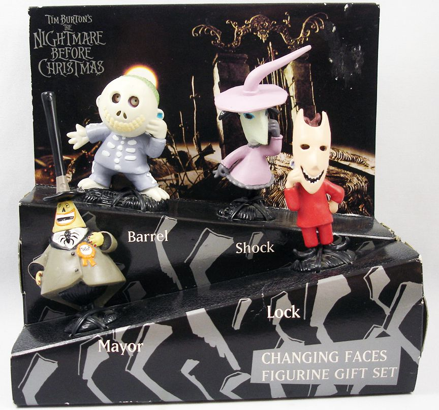 Nightmare before Christmas - Applause - Changing Faces figurine gift-set : Mayor, Lock, Shock, Barrel