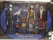 Nightmare before Christmas - NECA - Jack, Sally & Santa Jack (Boxed set)