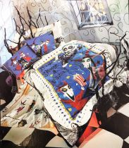 "Nightmare Before Christmas - Parure Draps (Lit Double) + Duvet ""Lock, Shock & Barrel\"""