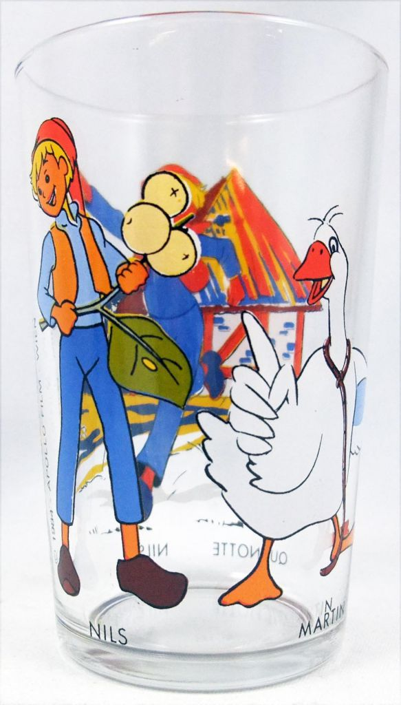 Nils Holgersson - Amora Mustard glass - Nils, Martin, Quenotte