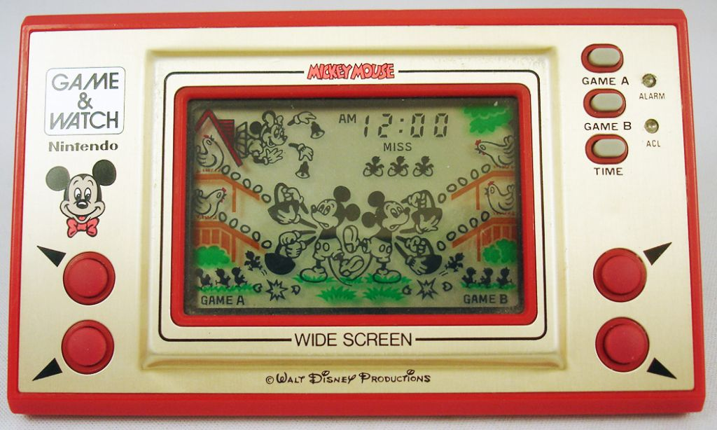 nintendo game watch wide screen mickey mouse loose