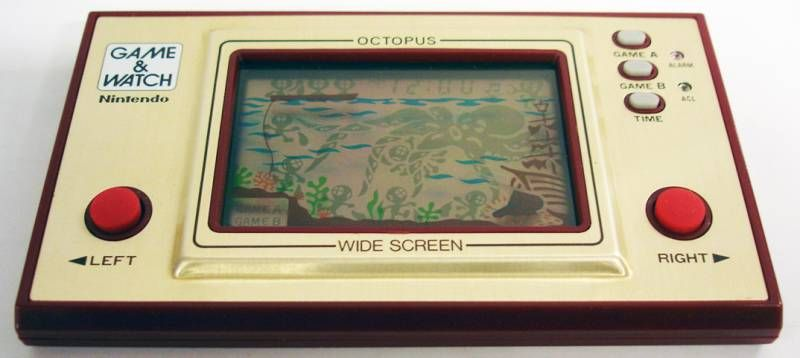Nintendo Game & Watch - Wide Screen - Octopus (Loose with box)
